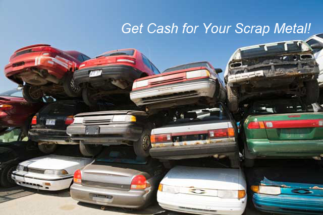 Get Cash for Your Scrap Metal! | Stack of cars